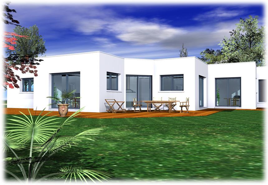 Faire Construire Une Maison Toit Plat Plain Pied Conforme A